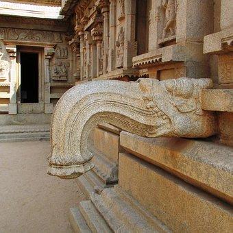 Sacred Water Tap, Hampi, India, Temple, Stonework