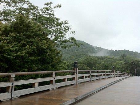 Ise, Ise Jingu Shrine, Uji Bridge, Japan, Shrine