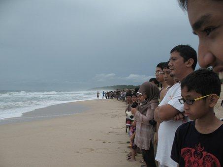 Waiting, Queu, Beach, Line, Wait, Queue, Queuing