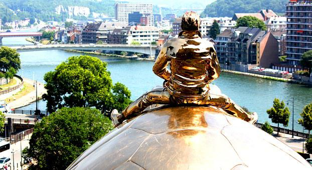 Namur, Belgium, January Fabre, Turtle, Sculpture