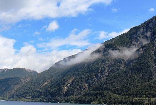 Panorama, Tyrolean Alps, Mood, Clouds, Achensee