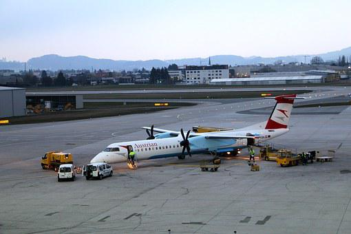 Salzburg, Airport, Aircraft, Flyer, Propeller, Runway