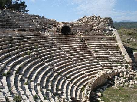 Turkey, Theatre, Roman, Old, Ancient, Remains, Ruins