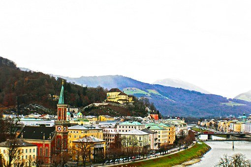 Europe, Austria, Salzburg, Travel, Architecture