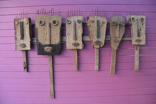 Art, Wood Sculpture, Wood, Sculpture, Asia, Thailand