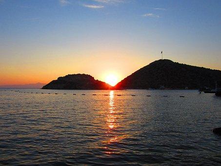 Bodrum, Turkey, Beach, Sunset, Nature, Water, Sea, Sun