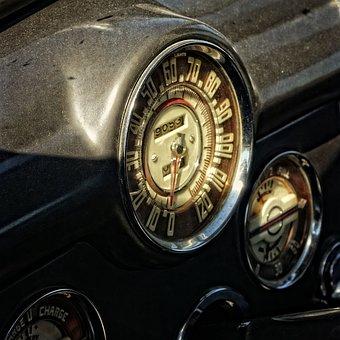 Auto, Oldtimer, Dashboard, Speedo, Automotive, Old