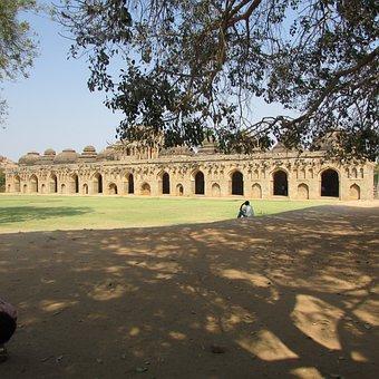 Elephants Stable, Vijayanagar Empire, Hampi, India