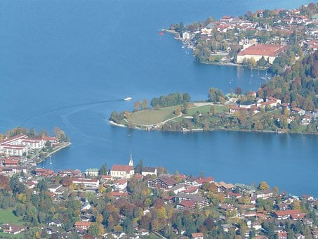 Lake, Village, Community, Tegernsee, Water, Waters