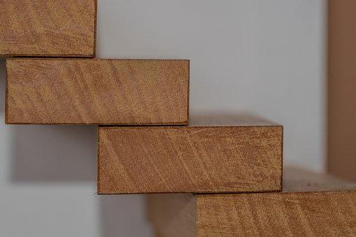 Stairs, Wood, Wooden Building Blocks, Building Blocks