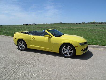 Chevrolet, Camaro, Cabrio, Yellow