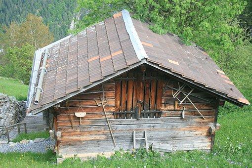 Chalet, Swiss, Wood, Alps, Switzerland, Alpine, Nature
