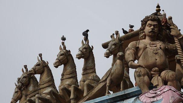 Statue, Horses, Deities, Batu Caves, Malaysia