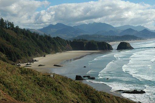 Oregon, Sea Scape, Beach, Usa