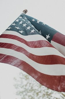 American Flag, Close-up, Flag, Fourth Of July