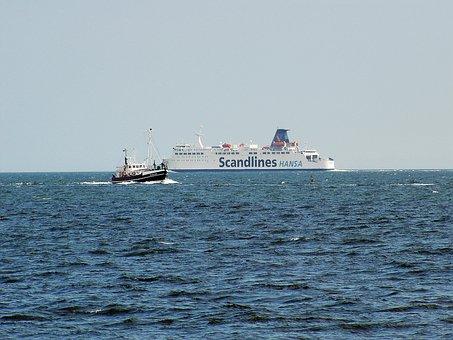 Rügen Island, Ferry, Ships, Baltic Sea, Sassnitz