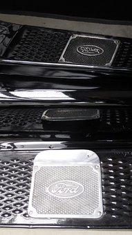 Ford, Running Board, Black, Reflect, Oldtimer, Auto