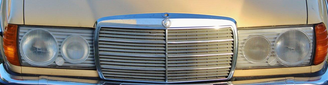 Mercedes, Front, Grille, Mercedes 200, Cool View