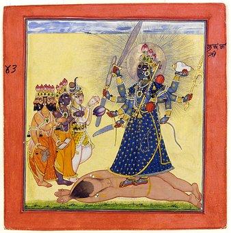 Deity, Goddess, Indian, Bhadrakali, Painting, 1660