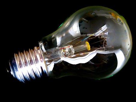 Light Bulb, Transparent, Light Body, Internal Parts