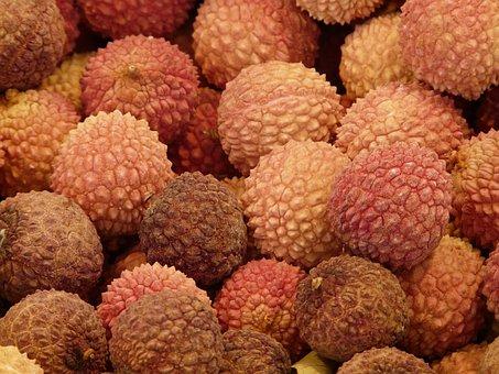 Lychee, Litchi Chinensis Fruits, Litsch
