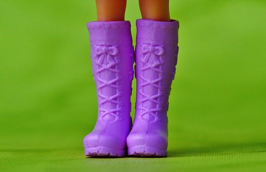 Boots, Doll, Doll Shoes, Cute, Loop, Purple, Clothing