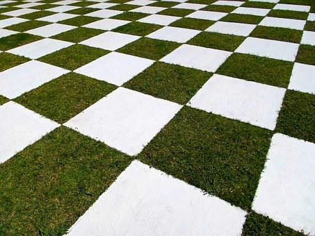 Square, Garden, Grid, Grass, Decoration, Open Air