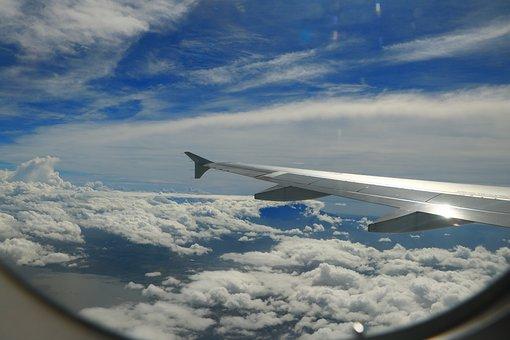 Aircraft, Blue Sky, White Cloud, Plane, Ing, Sky, Cloud