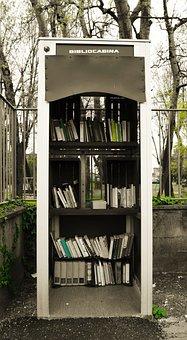 Library, Cabin, Bibliocabina, Books, Public Park, Green