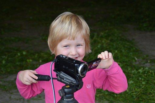 Camera, Film, Recording, Child, Cinematographer