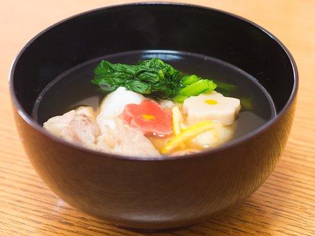 Japanese Food, Rice Cake, Bowl