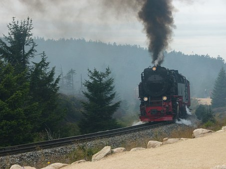Steam Locomotive, Railway, Seemed, Resin