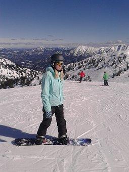 Snowboard, Skiing, Hochkar, Alps, Austria