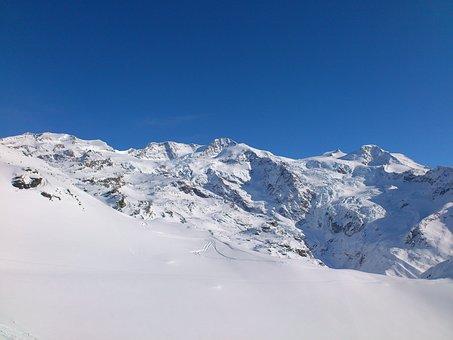 Glacier Di Verrà, Monte Rosa, Ski, Snowboard, Winter