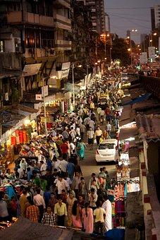 Crowded, Street, Mumbai, Bombay, Crowd, People, India