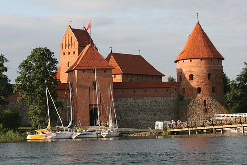 Trakai, Lithuania, Castle, Lake, Summer