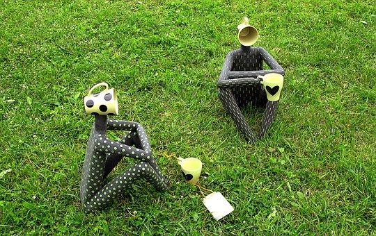 Tea Pair, Sculpture, Humor, Museum, Park