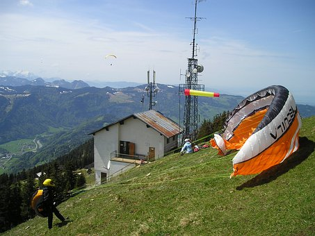 Paragliding, Wind, Wind Sock, Start, Clipping Stage