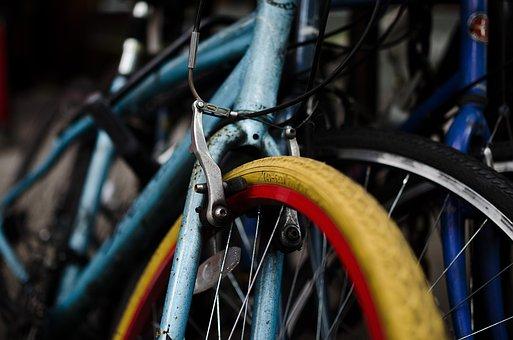 Bicycles, Bike, Bike Tires, Brake, Close Up, Cycle