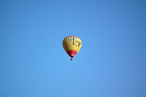 Balloon, Journey, Sky, Fly, Transport, Yellow, Blue