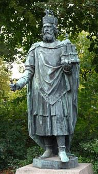 Emperor, Charles The Great, Hamburg, Monument, Bust