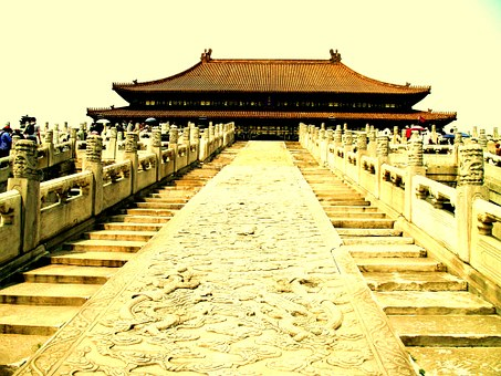 China, Stairs, Emperor, Asia, Chinese, Architecture