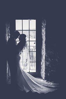 Bride, Couple, Dark, Groom, Man, Marriage, People