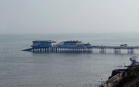 Pier, Jetty, Cromer, England, Boat Ramp, Public, Mist