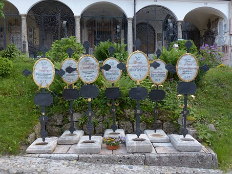 Graves, Cemetery, Crosses, Salzburg, Old Cemetery