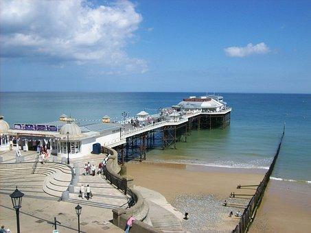 England, Great Britain, Sky, Clouds, Cromer Pier, Dock