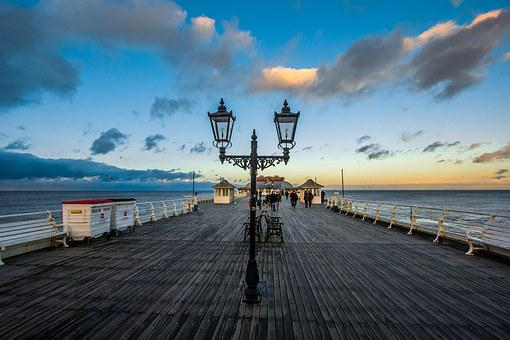 England, Cromer Pier, In The Evening, Seascape
