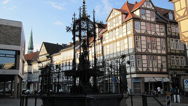 Hanover, Historic Center, Wood Market Fountain, Germany