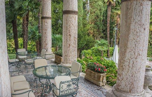 Sirmione, Villa Cortine Palace, Lake Garda, Dining Area