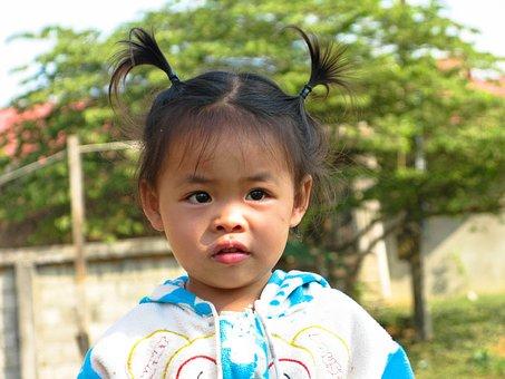 Laos, Vang Vieng, Laotian, Girl, Child, Children